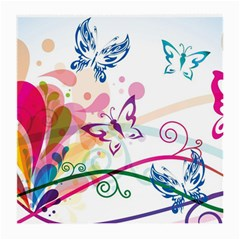 Butterfly Vector Art Medium Glasses Cloth (2 Side) by BangZart