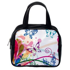 Butterfly Vector Art Classic Handbags (one Side)