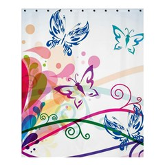 Butterfly Vector Art Shower Curtain 60  X 72  (medium)  by BangZart