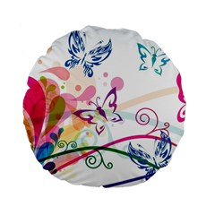 Butterfly Vector Art Standard 15  Premium Flano Round Cushions