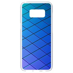 Blue Pattern Plain Cartoon Samsung Galaxy S8 White Seamless Case