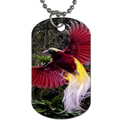 Cendrawasih Beautiful Bird Of Paradise Dog Tag (two Sides)