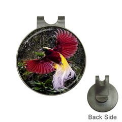 Cendrawasih Beautiful Bird Of Paradise Hat Clips With Golf Markers by BangZart