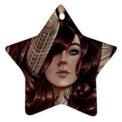Beautiful Women Fantasy Art Ornament (star) by BangZart