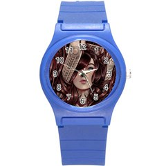 Beautiful Women Fantasy Art Round Plastic Sport Watch (s) by BangZart