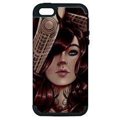 Beautiful Women Fantasy Art Apple Iphone 5 Hardshell Case (pc+silicone) by BangZart