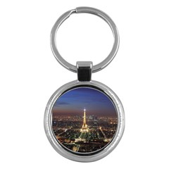 Paris At Night Key Chains (round)  by BangZart