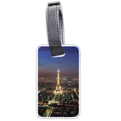 Paris At Night Luggage Tags (one Side)  by BangZart