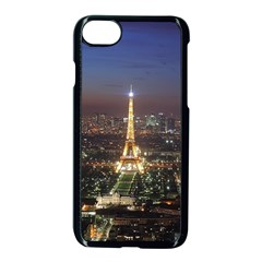 Paris At Night Apple Iphone 7 Seamless Case (black) by BangZart