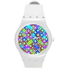 Pattern Factory 32b Round Plastic Sport Watch (m)
