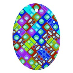 Pattern Factory 32b Oval Ornament (two Sides) by MoreColorsinLife