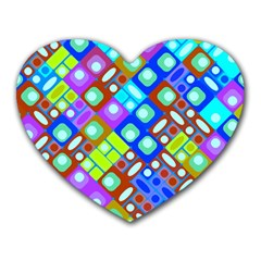 Pattern Factory 32b Heart Mousepads by MoreColorsinLife