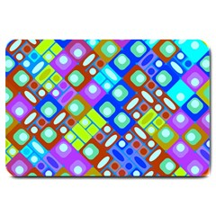 Pattern Factory 32b Large Doormat  by MoreColorsinLife