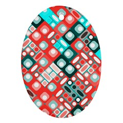Pattern Factory 32d Oval Ornament (two Sides) by MoreColorsinLife
