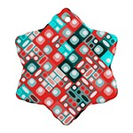 Pattern Factory 32d Snowflake Ornament (Two Sides) Back