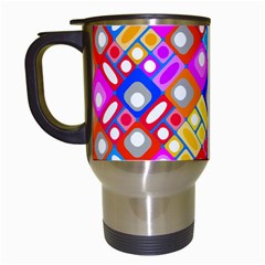 Pattern Factory 32a Travel Mugs (white) by MoreColorsinLife