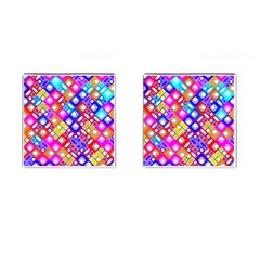 Pattern Factory 32a Cufflinks (square) by MoreColorsinLife