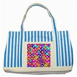 Pattern Factory 32a Striped Blue Tote Bag Front