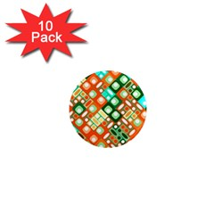 Pattern Factory 32c 1  Mini Magnet (10 Pack)