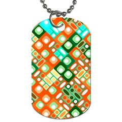 Pattern Factory 32c Dog Tag (two Sides) by MoreColorsinLife