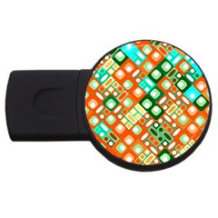 Pattern Factory 32c Usb Flash Drive Round (4 Gb) by MoreColorsinLife