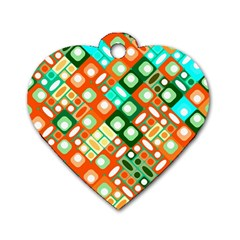 Pattern Factory 32c Dog Tag Heart (two Sides) by MoreColorsinLife