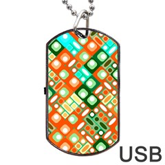 Pattern Factory 32c Dog Tag Usb Flash (one Side) by MoreColorsinLife
