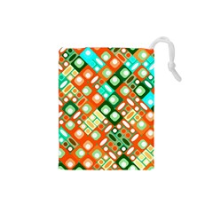 Pattern Factory 32c Drawstring Pouches (small)  by MoreColorsinLife