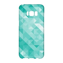 Bright Blue Turquoise Polygonal Background Samsung Galaxy S8 Hardshell Case