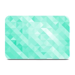 Bright Green Turquoise Geometric Background Plate Mats by TastefulDesigns