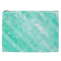 Bright Green Turquoise Geometric Background Cosmetic Bag (xxl)