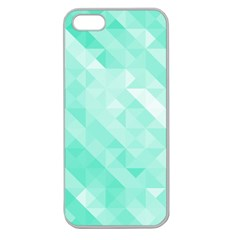 Bright Green Turquoise Geometric Background Apple Seamless Iphone 5 Case (clear)