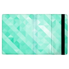 Bright Green Turquoise Geometric Background Apple Ipad 2 Flip Case by TastefulDesigns