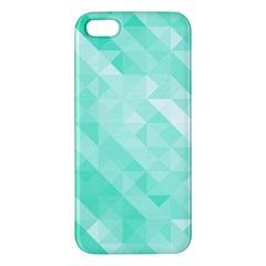 Bright Green Turquoise Geometric Background Apple Iphone 5 Premium Hardshell Case by TastefulDesigns