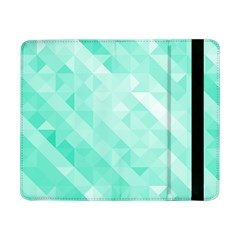 Bright Green Turquoise Geometric Background Samsung Galaxy Tab Pro 8 4  Flip Case by TastefulDesigns