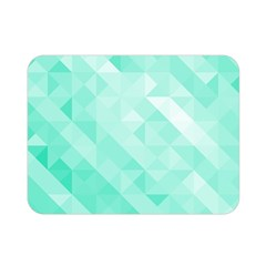 Bright Green Turquoise Geometric Background Double Sided Flano Blanket (mini)  by TastefulDesigns