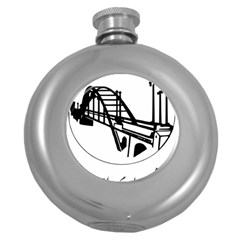 Seal Of Ahvaz Round Hip Flask (5 Oz) by abbeyz71