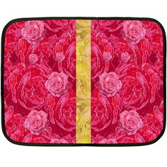 Rose And Roses And Another Rose Fleece Blanket (mini) by pepitasart