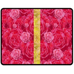 Rose And Roses And Another Rose Fleece Blanket (medium)  by pepitasart