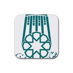 Seal Of Hamedan  Rubber Square Coaster (4 Pack)  by abbeyz71