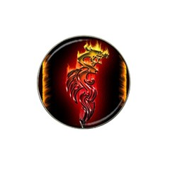 Dragon Fire Hat Clip Ball Marker (10 Pack) by BangZart