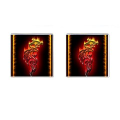 Dragon Fire Cufflinks (square) by BangZart
