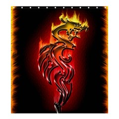 Dragon Fire Shower Curtain 66  X 72  (large)  by BangZart