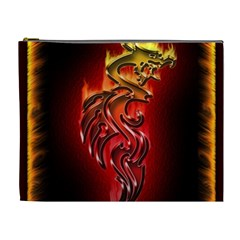 Dragon Fire Cosmetic Bag (xl) by BangZart