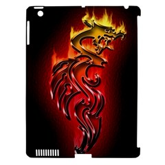 Dragon Fire Apple Ipad 3/4 Hardshell Case (compatible With Smart Cover)