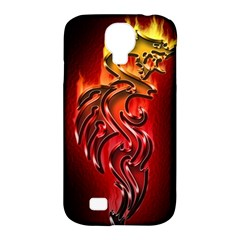 Dragon Fire Samsung Galaxy S4 Classic Hardshell Case (pc+silicone) by BangZart
