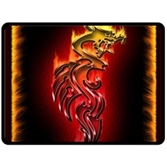 Dragon Fire Double Sided Fleece Blanket (large)  by BangZart