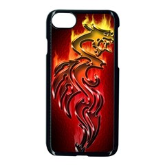 Dragon Fire Apple Iphone 7 Seamless Case (black)