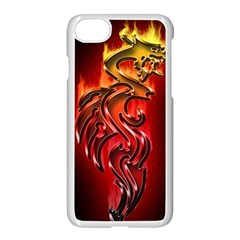 Dragon Fire Apple Iphone 7 Seamless Case (white)