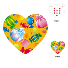 Sweets And Sugar Candies Vector  Playing Cards (heart)  by BangZart